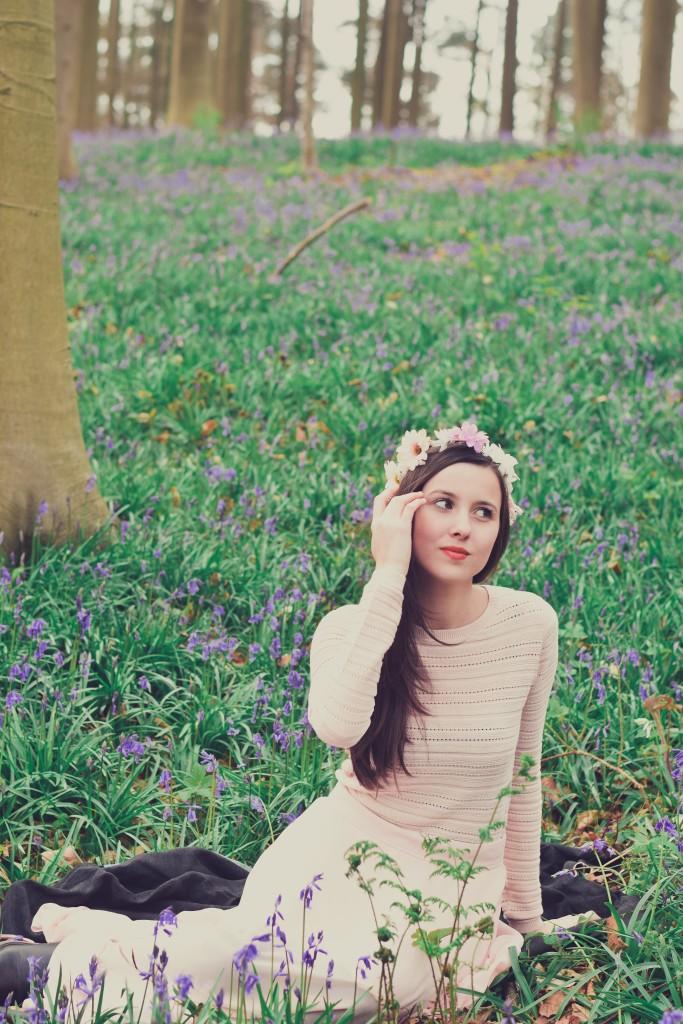 Hallerbos bois de Halle portrait girl woman photoshoot belgium greenhouse liège femme serres photographe belgique