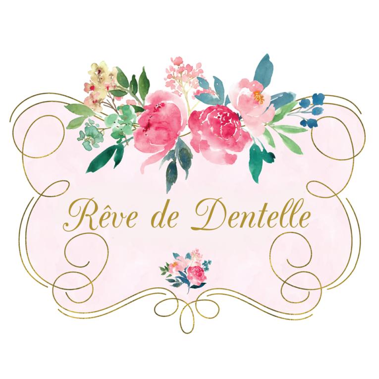 logo de rêve de dentelle, magasin de robe de mariée à Mons