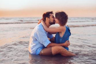 Séance couple à la côte d'Opale en France
